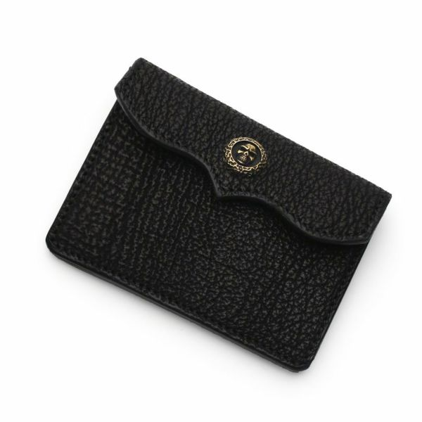レザーブランドS'FACTORY スマート ショート ウォレット シャーク(サメ革) メンズ革財布