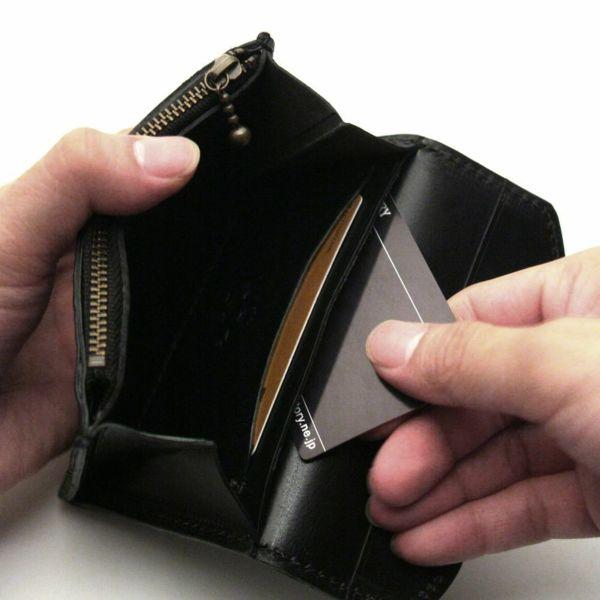 レザーブランドS'FACTORY スマート ショート ウォレット ボルドーエレファント(ゾウ革) メンズ革財布
