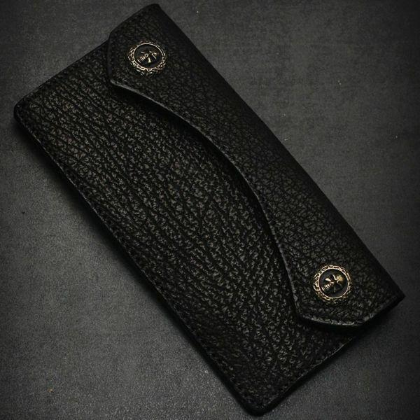 レザーブランドS'FACTORY  スマート ロング ウォレット シャーク(サメ革)革財布