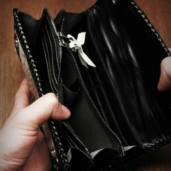 レザーブランドSIXTHSENSE ヴィンテージホワイトウォレット クロコダイル(ワニ革)革財布