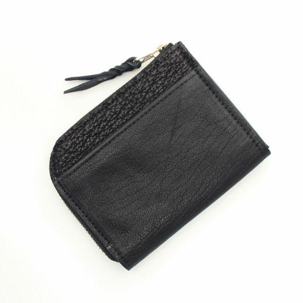 レザーブランドS'FACTORY  L字ファスナー ショートウォレット シャーク(サメ革) メンズ革財布