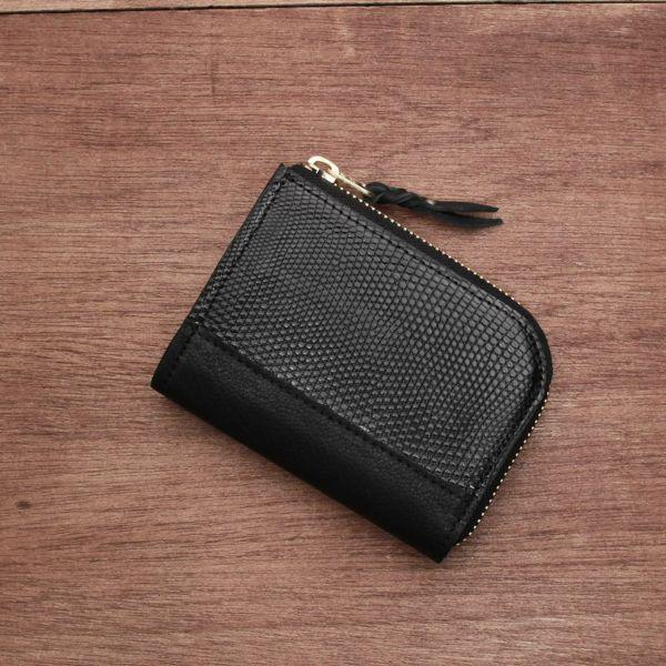 レザーブランドS'FACTORY  L字ファスナー ショートウォレット リザード(トカゲ革) メンズ革財布