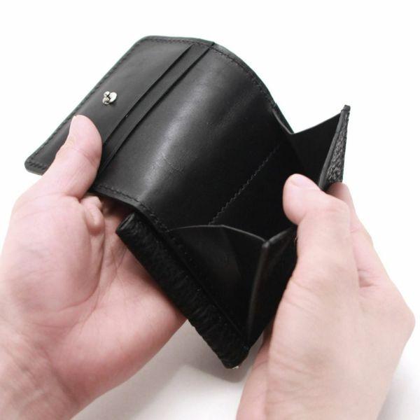 レザーブランドS'FACTORY マネークリップ ウォレット シャーク(サメ革)革小物