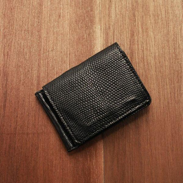 レザーブランドS'FACTORY マネークリップ ウォレット リザード(トカゲ革)革小物