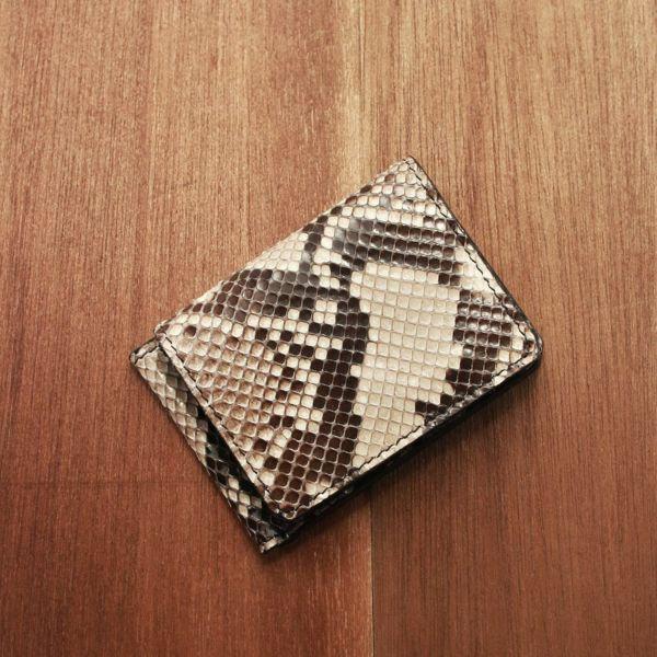 レザーブランドS'FACTORY マネークリップ ウォレット パイソン(ヘビ革)革小物