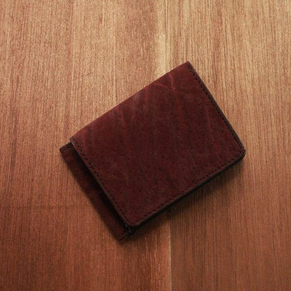 レザーブランドS'FACTORY マネークリップ ウォレット ボルドーエレファント(ゾウ革)革小物