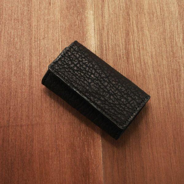 レザーブランドS'FACTORY シンプルキーケース シャーク(サメ革) 革小物