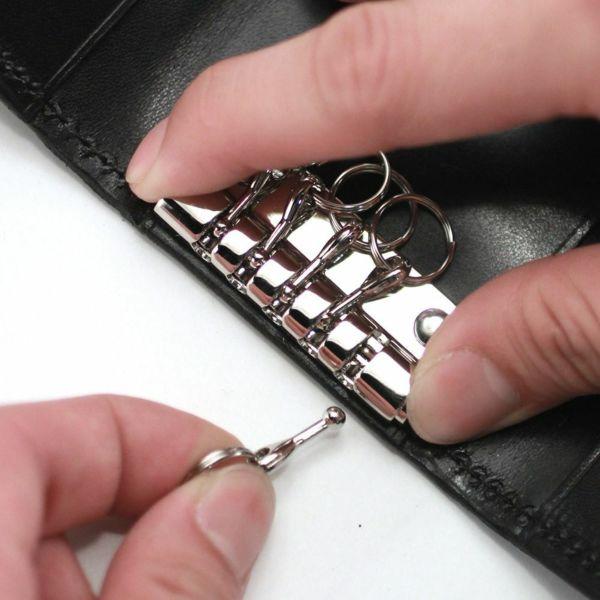 レザーブランドS'FACTORY シンプルキーケース リザード(トカゲ革) 革小物