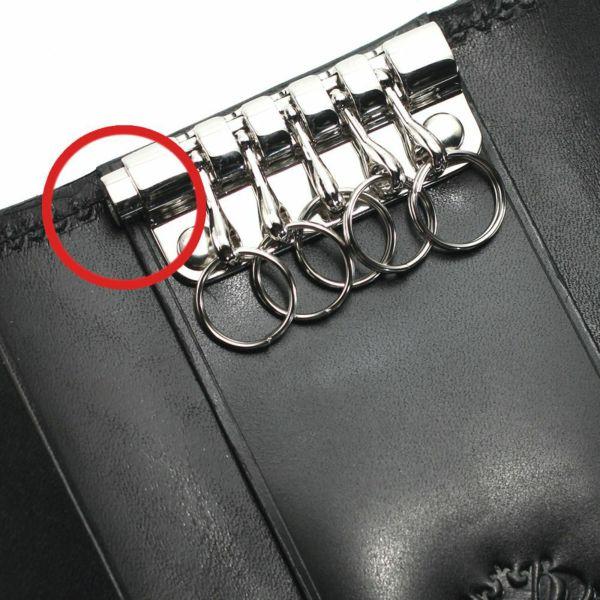 レザーブランドS'FACTORY  シンプルキーケース ブラックエレファント(ゾウ革) 革小物