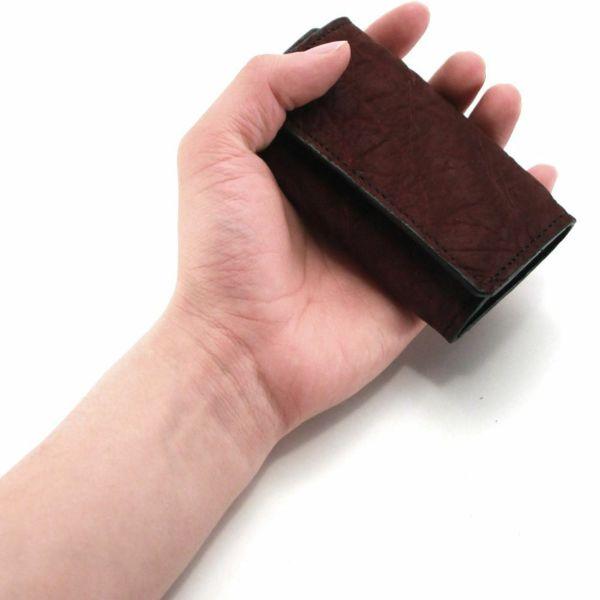 レザーブランドS'FACTORY シンプルキーケース ボルドーエレファント(ゾウ革)革小物