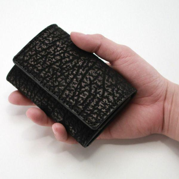 レザーブランドS'FACTORY シンプル名刺入れ シャーク(サメ革)革小物 カードケース