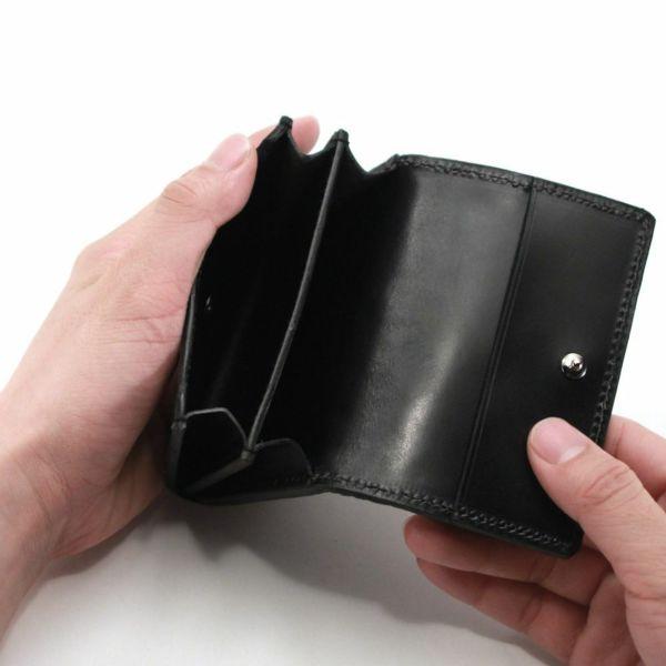 レザーブランドS'FACTORY シンプル名刺入れ リザード(トカゲ革)革小物 カードケース