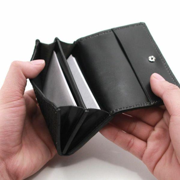 レザーブランドS'FACTORY シンプル名刺入れ ボルドーエレファント(ゾウ革)革小物 カードケース