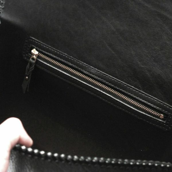 レザーブランドS'FACTORY 縁編みセカンドバッグ バッファロー(水牛革)メンズ ブリーフケース バッグ