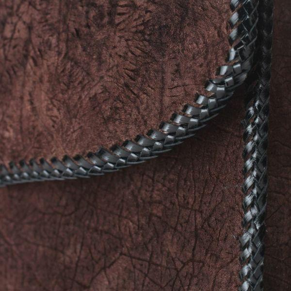 レザーブランドS'FACTORY 縁編みセカンドバッグ ブラウン ヒポ(カバ革)メンズ ブリーフケース バッグ