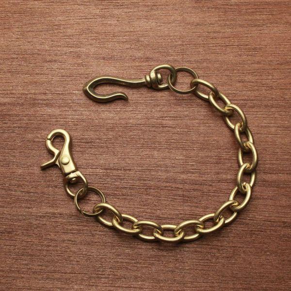 レザーブランドS'FACTORY ショート ウォレット チェーン リング ゴールド ブラス(真鍮)アクセサリー 短い