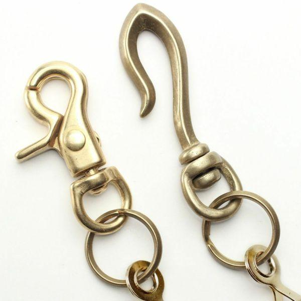 レザーブランドS'FACTORY ショート ウォレット チェーン ボール小 ゴールド ブラス(真鍮)アクセサリー 短い