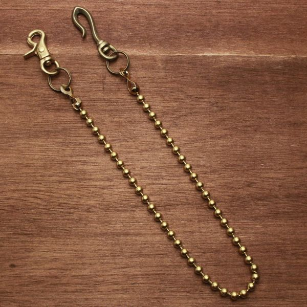 レザーブランドS'FACTORY ウォレット ウォレット チェーン ボール小 ゴールド ブラス(真鍮)アクセサリー