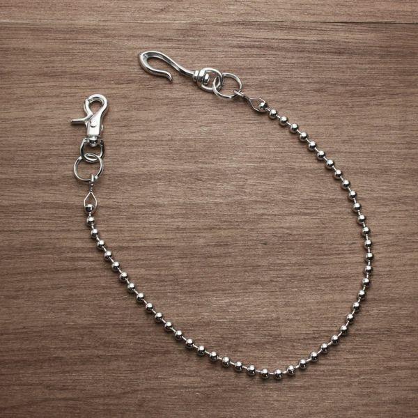レザーブランドS'FACTORY ウォレット チェーン ボール小 シルバー ブラス(真鍮)アクセサリー