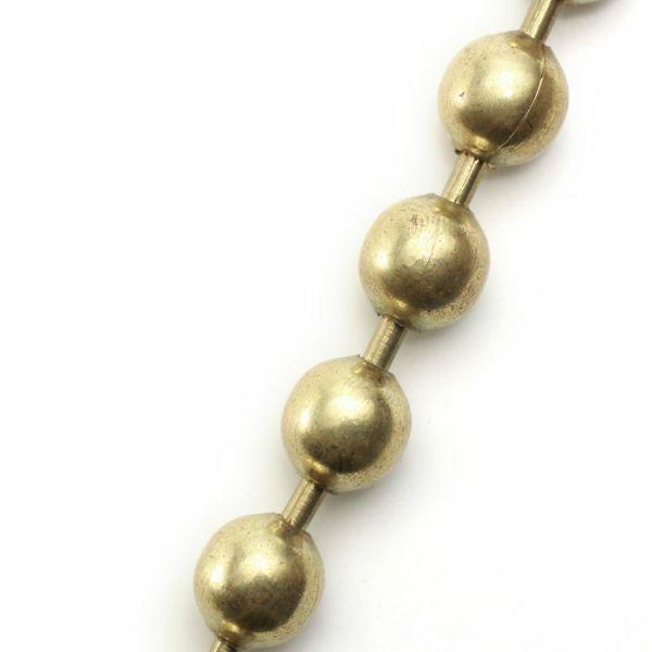 レザーブランドS'FACTORY ウォレット チェーン ボール大 ゴールド ブラス(真鍮)アクセサリー
