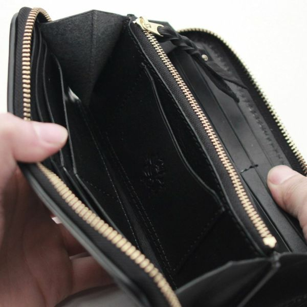 レザーブランドS'FACTORY ラウンド ファスナーウォレット シャーク メッシュ(サメ革)メンズ革財布