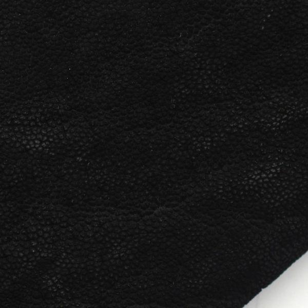 レザーブランドS'FACTORY 縁編み ロングウォレット ブラックエレファント(ゾウ革)革財布