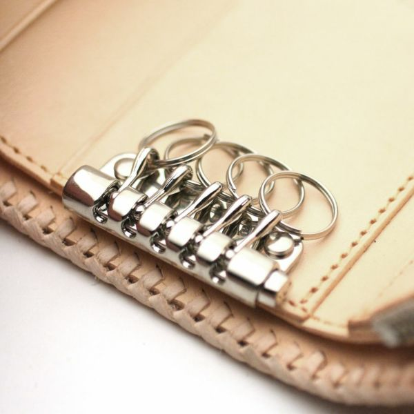 レザーブランドS'FACTORY キーウォレット カウレザー ナチュラル(牛革) メンズ革財布