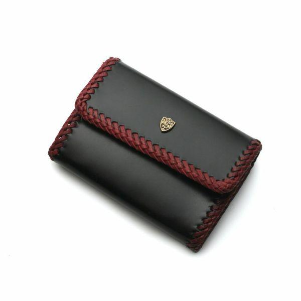レザーブランドS'FACTORY キーウォレット カウレザー ブラック&レッド(牛革) メンズ革財布