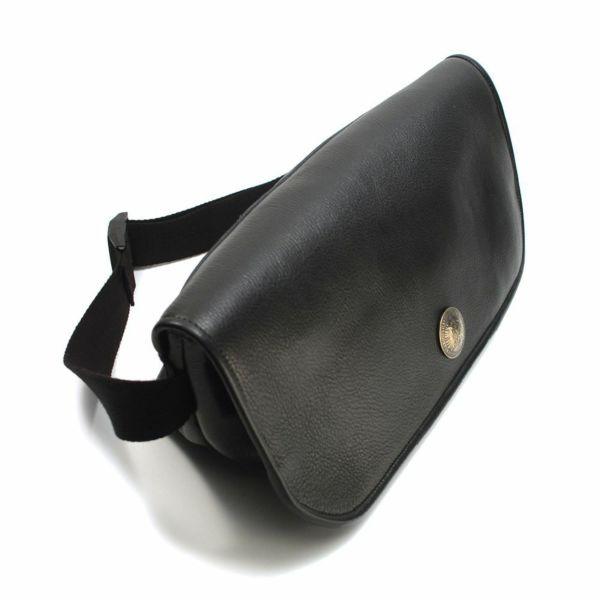 レザーブランドS'FACTORY レザーメッセンジャーバッグ ブラック カウレザー(牛革)メンズ ボディ バッグ