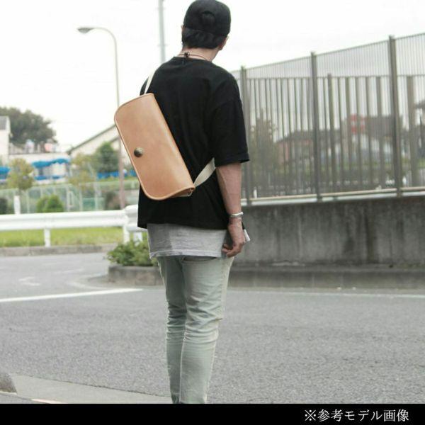 レザーブランドS'FACTORY レザーメッセンジャーバッグ キャメル カウレザー(牛革)メンズ ボディ バッグ