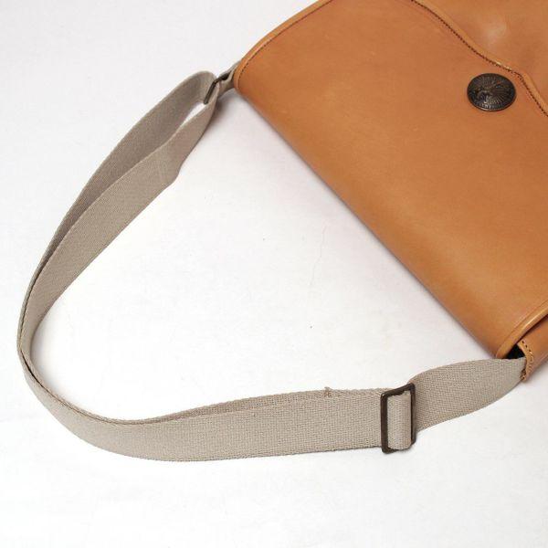 レザーブランドS'FACTORY レザーショルダーバッグ キャメル カウレザー(牛革)メンズ 斜めがけ バッグ