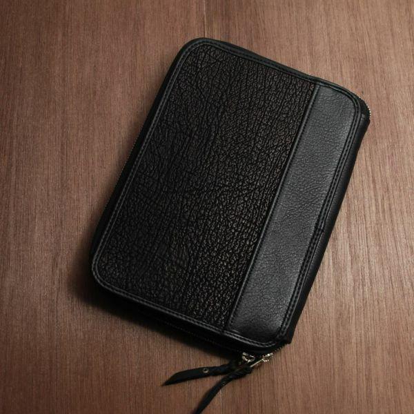 レザーブランドS'FACTORY クラッチ ウォレット シャーク(サメ革) メンズ革財布