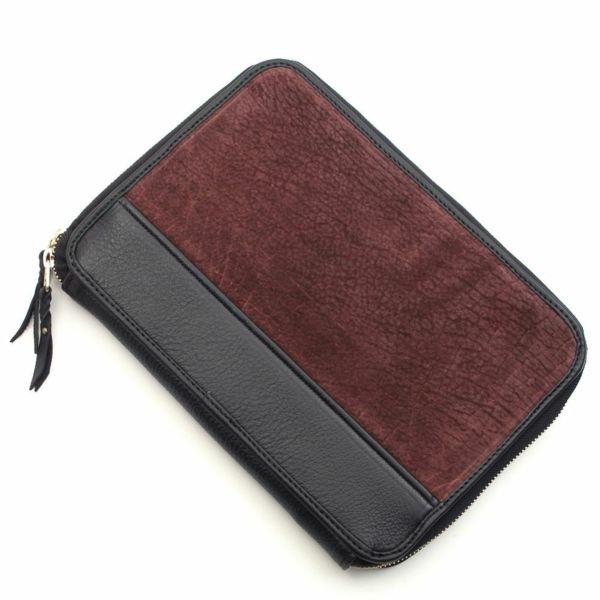 レザーブランドS'FACTORY クラッチ ウォレット ヒポ ボルドー(カバ革) メンズ革財布