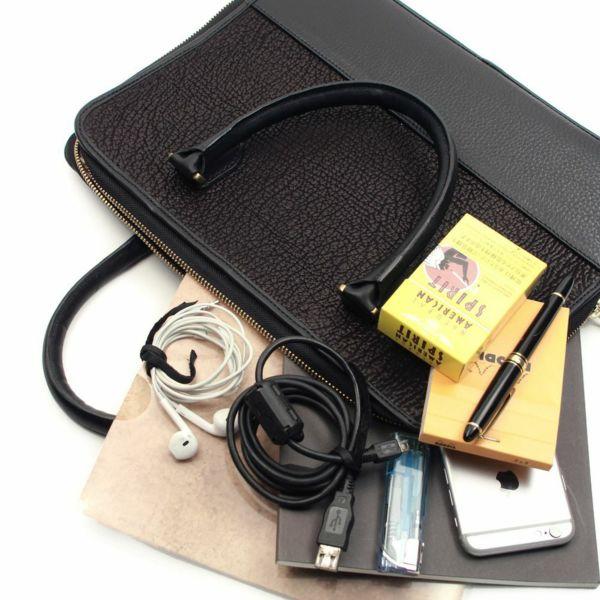 レザーブランドS'FACTORY スリム ブリーフケース シャーク(サメ革)メンズ ブリーフバッグ