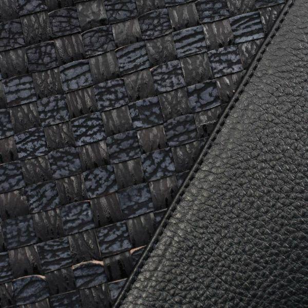 レザーブランドS'FACTORY スリム ブリーフケース シャーク メッシュ(サメ革)メンズ ブリーフバッグ