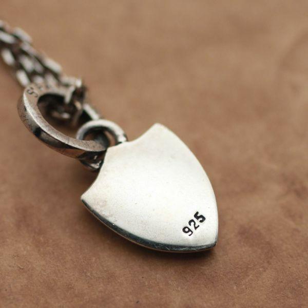 レザーブランドS'FACTORY エンブレムペンダント スモール Silver925 メンズ アクセサリー ネックレス