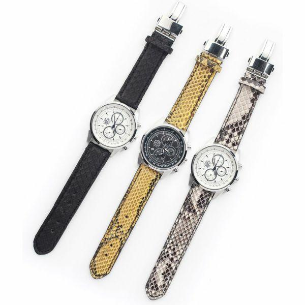 レザーブランドS'FACTORY 時計ベルト パイソン(ヘビ革)交換用