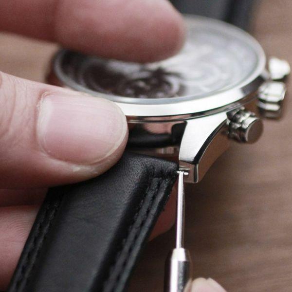 レザーブランドS'FACTORY 時計ベルト スティングレー(エイ革)交換用