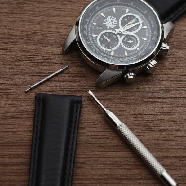 レザーブランドS'FACTORY 時計ベルト クロコダイル(ワニ革)交換用