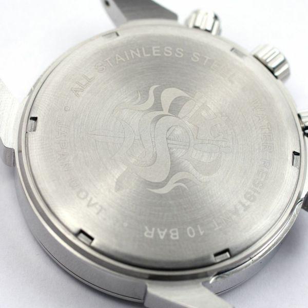 レザーブランドS'FACTORY クロノグラフ腕時計レザーベルト シャーク(サメ革)