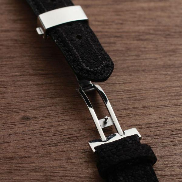 レザーブランドS'FACTORY クロノグラフ腕時計レザーベルト エレファント(ゾウ革)