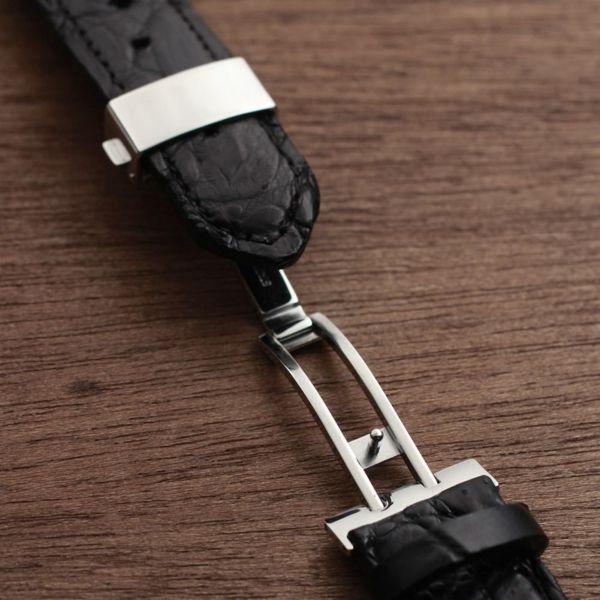 レザーブランドS'FACTORY クロノグラフ腕時計レザーベルト クロコダイル(ワニ革)
