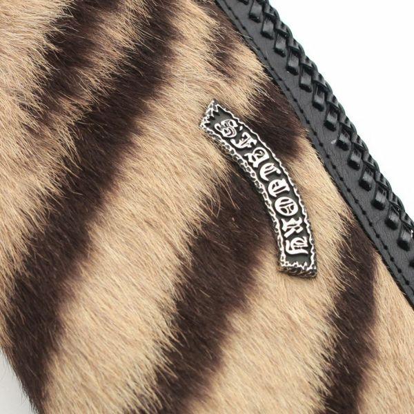 レザーブランドS'FACTORY プレミアムウォレット トラ毛皮(タイガー)革財布