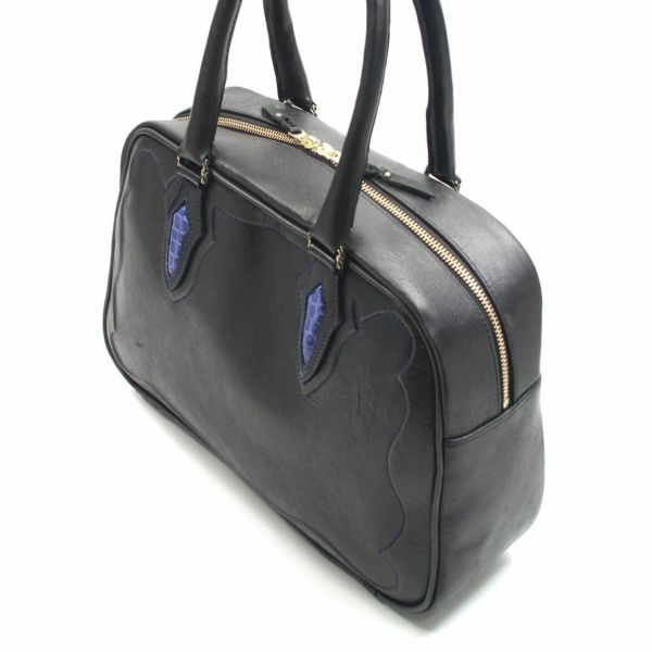 レザーブランドSIXTHSENSE 立体モチーフミニボストン ゴートレザー(山羊革)メンズマディソンバッグ