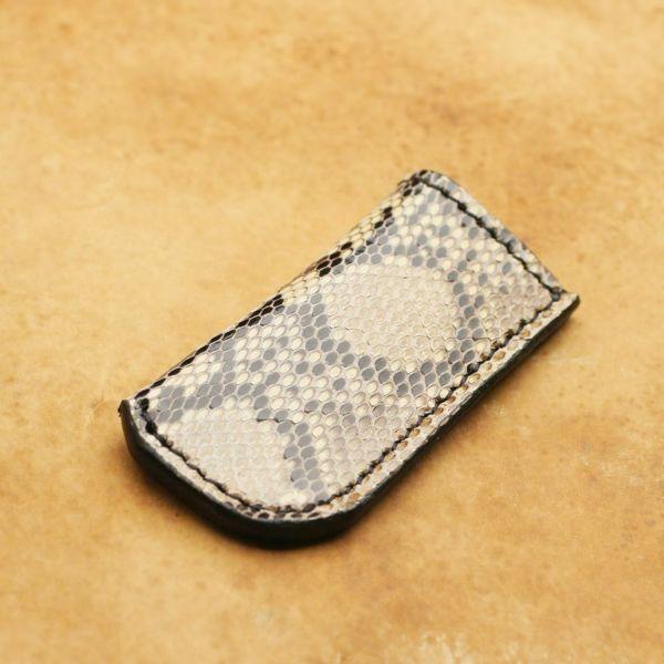 レザーブランドS'FACTORY ライターケース パイソン(ヘビ革)革小物 ライターカバー