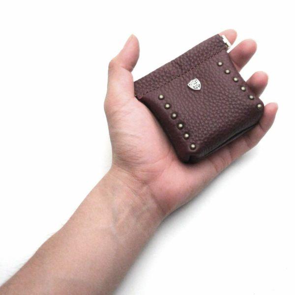 レザーブランドS'FACTORY ワンタッチコインケース カウレザー レッドブラウン(牛革)革小物 小銭入れ