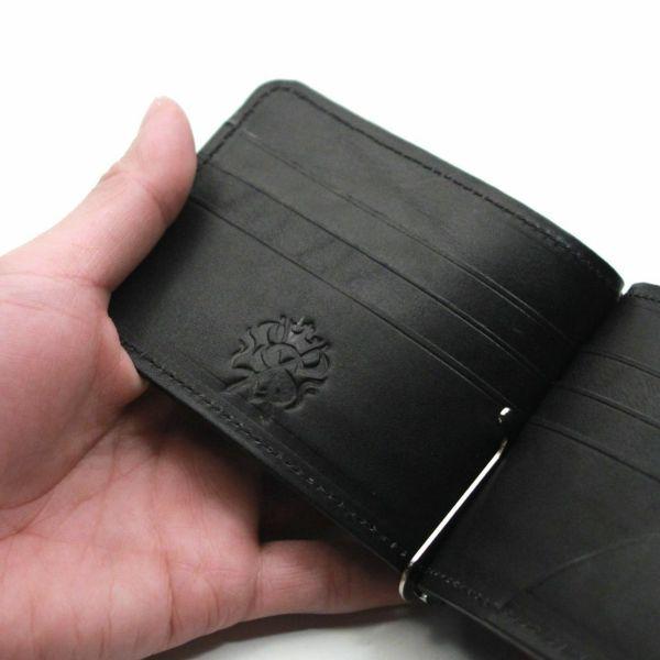レザーブランドS'FACTORY レザーマネークリップ ポニー ターコイズブルー(馬革)革小物
