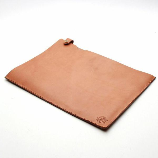 レザーブランドS'FACTORY A4レザーファイル カウレザー ナチュラル(牛革)革小物 書類入れ 栃木レザー