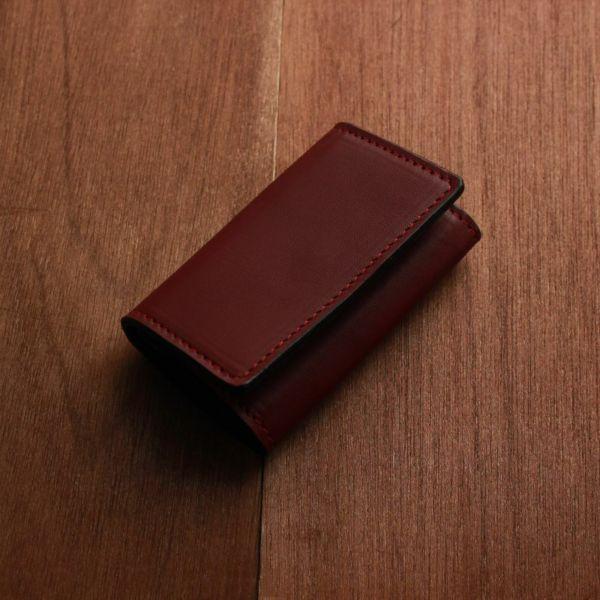 レザーブランドS'FACTORY  シンプルキーケース カウレザー レッド(牛革) 革小物