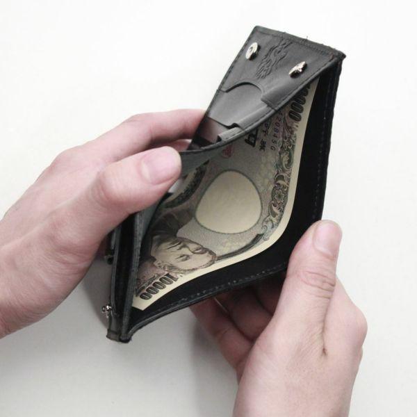 レザーブランドS'FACTORY スナップミニウォレット シャーク(サメ革)革財布